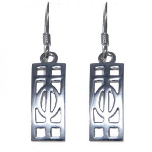 Charles Rennie Mackintosh Silver Earrings 3301