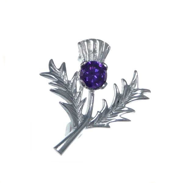 Scottish Silver Thistle Brooch